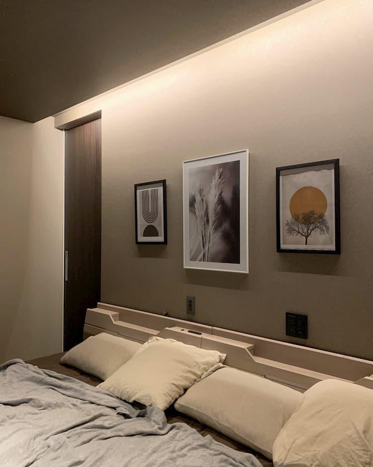 ホテルのような寝室@__a.k__hm ・