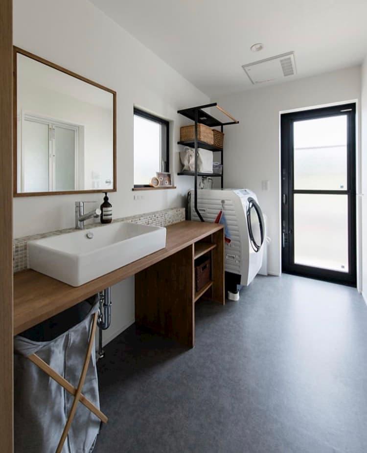 @ma.me_2347home ゆったりスペースな洗面室