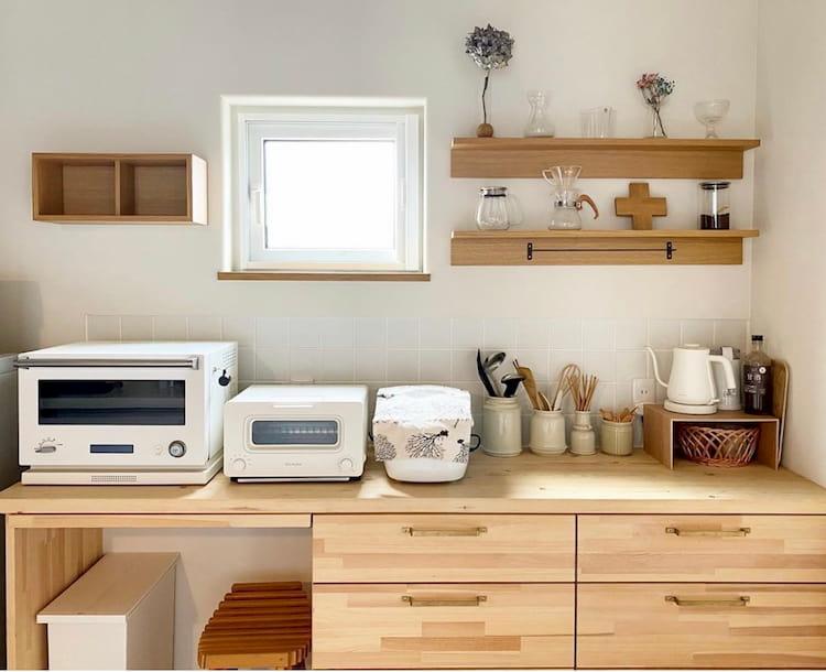 シンプルインテリアのキッチン