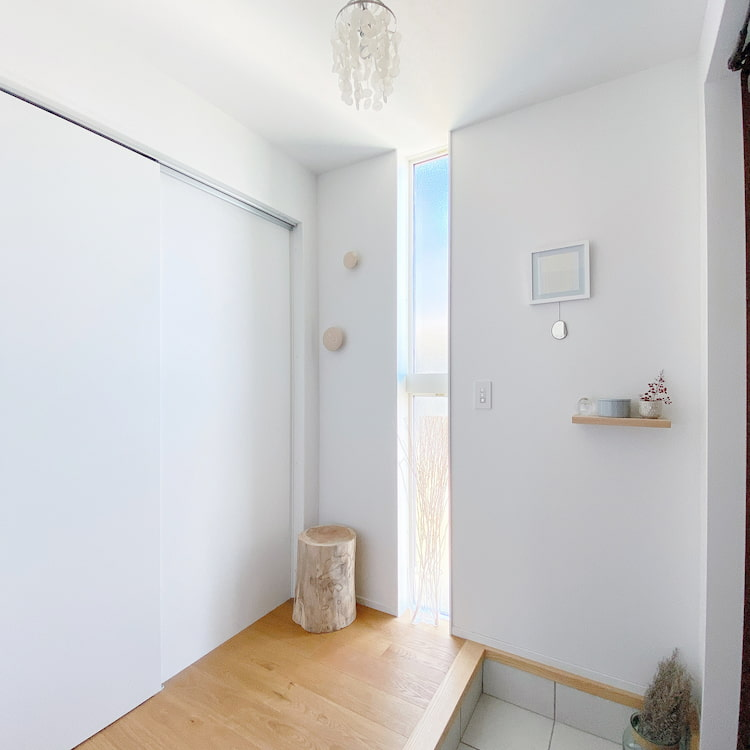 土間収納が便利な玄関スペース