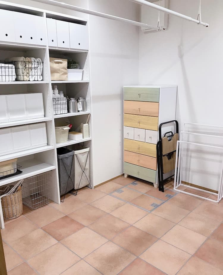 5.5畳の広めの脱衣所スペース@ritsuko_ie
