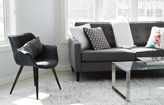 家財保険対象のソファー